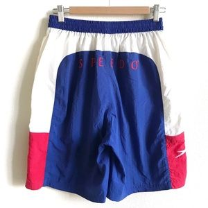 Vintage 80s 90 Red White Blue SPEEDO Swim Trunks